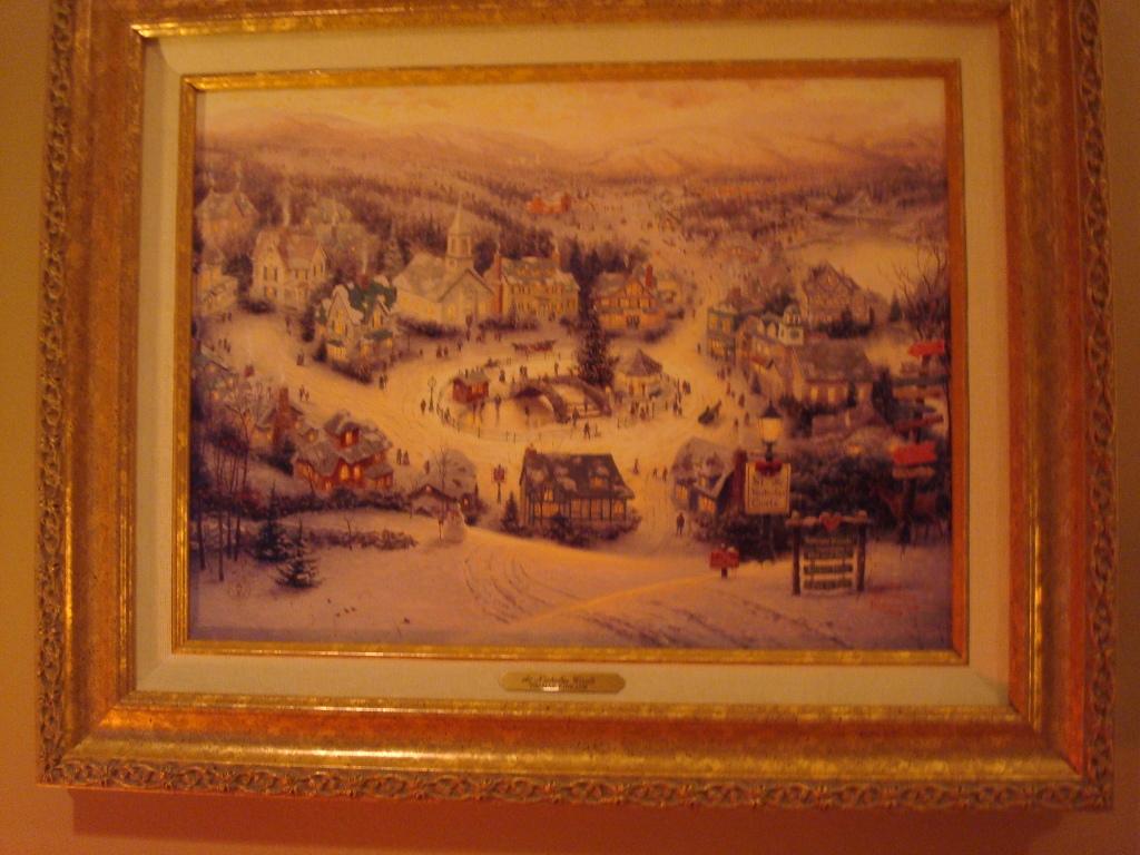 Thomas Kinkade, winter scene 003